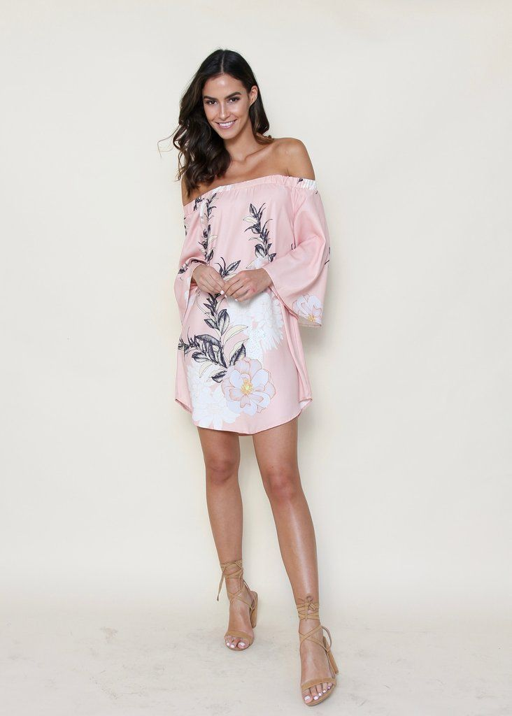 Sunday Sessions Off Shoulder Dress - Peachy