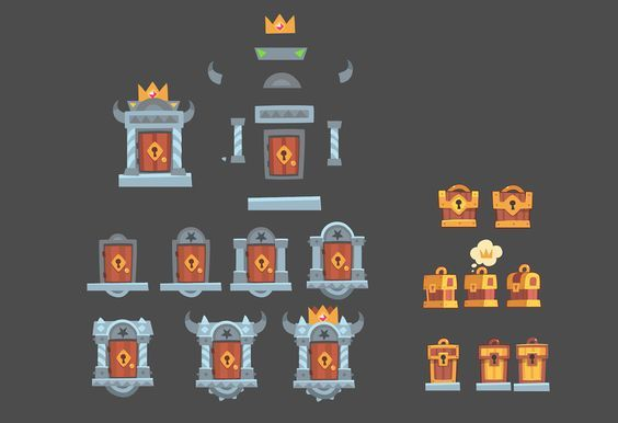 King of Thieves pre production graphics on Behance: