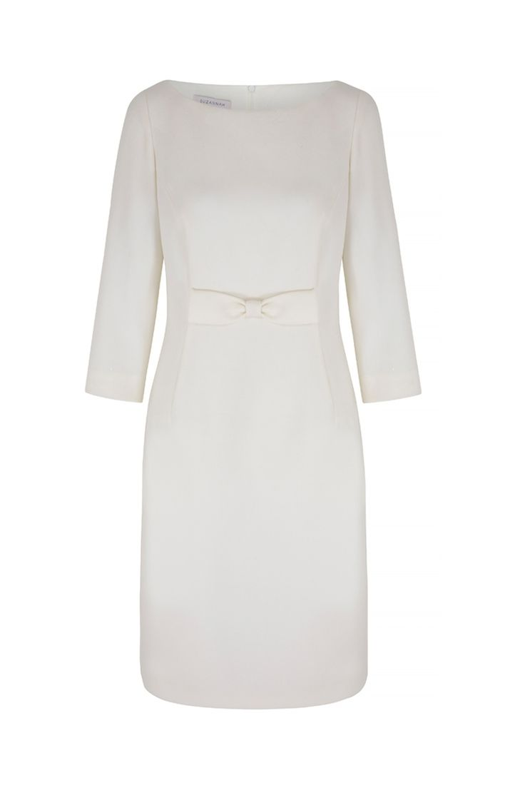 A modern, elegant shift for special occasions. Tailored from the most divine wool sateen crepe. A simple, effortless and elegant dress with a softly tailored silhouette which fits beautifully, skimming the body. The scooped slash neckline and 3/4 sleeve length are flattering and appropriate for many events. x