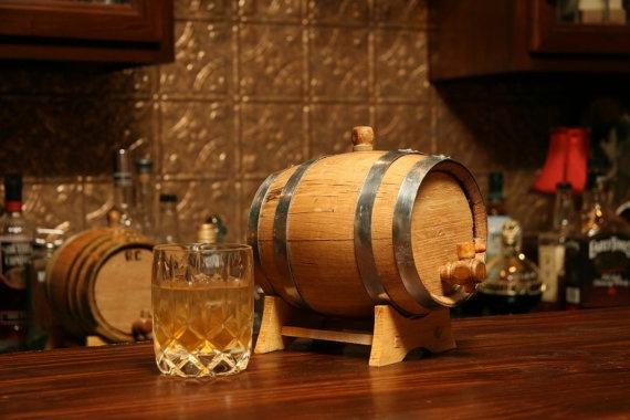 Mini Whiskey Barrel with Engraving Option.
