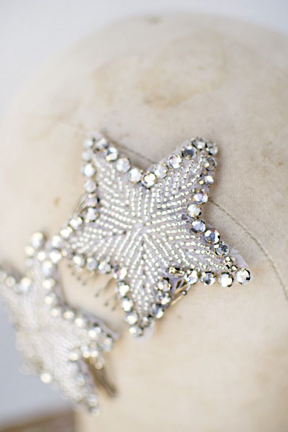 vintage 1920s flapper inspired star combs