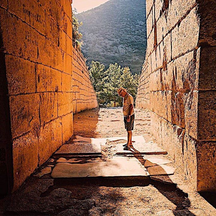Papou stands in the entryway of the Treasury of Atreus an immense tholos tomb built in 1250 BC near the ancient site of Mycenae.  #vsco #peloponnese #greeceis #iphone #ancientgreece  #realgreece #instagreece #grecia #handofgreece #wanderlust #wonderlust #history #photooftheday #instatravel #greece #iphone #messinia #tomb #arcadia #greichenland #travelgram #Papou #bbctravel #photooftheday #greece #mygreece #amazinggreece #great_captures_greece #instagram  #discovergreece #mycenae…