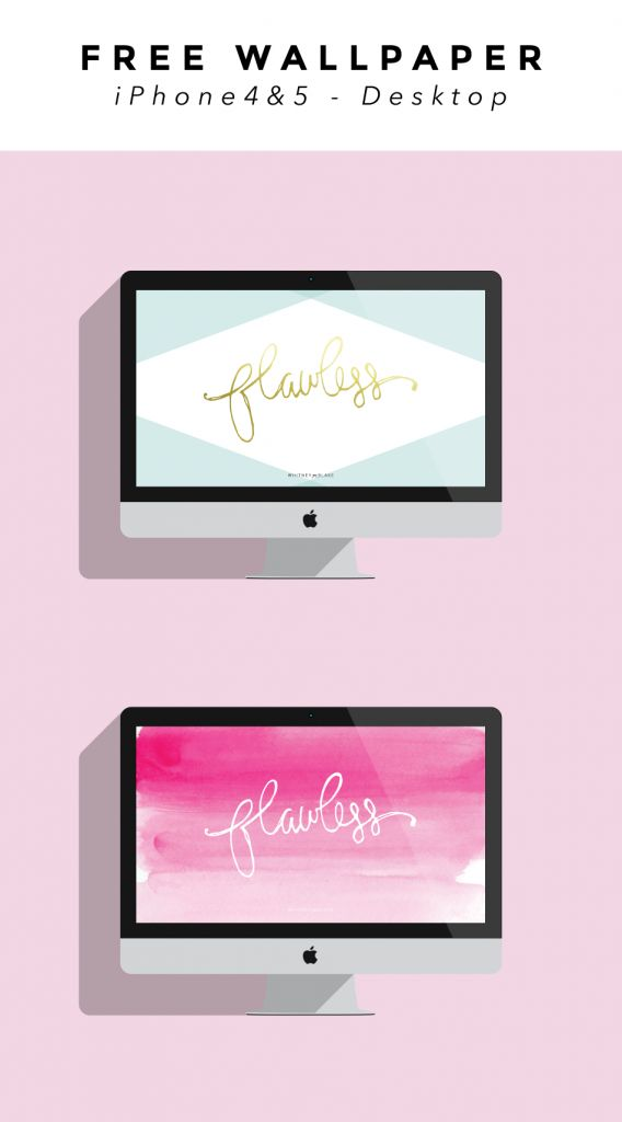 Free Flawless iPhone and desktop wallpaper background