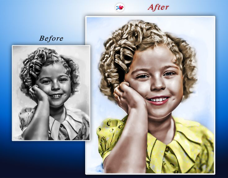 Digital Art ~ Adobe Photoshop / Project: Shirley Temple - #photoshop #photoshopactions #retouching #child #children #girl #star #actress