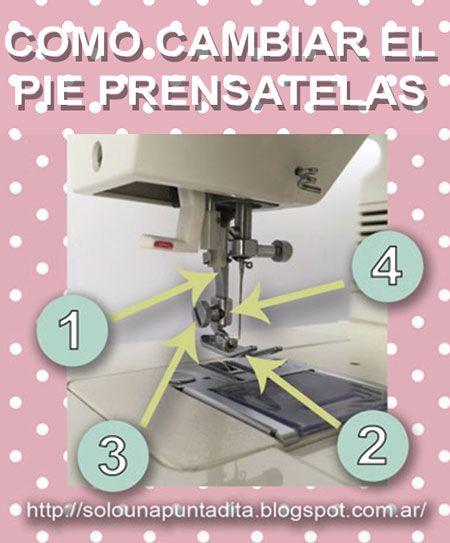 Sólo una puntadita...: Cómo cambiar el pie prensatelas de la máquina de coser