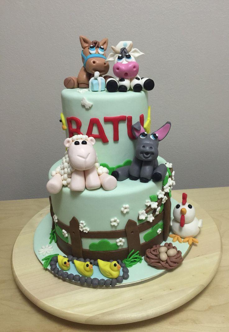 Butik pasta, şeker hamuru, fondant, çiftlik pasta, hayvanlar, cake, fondant cake