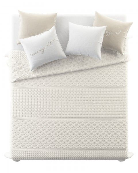 Presivane obojstranne prikryvky na postel v kremovej farbe (2)