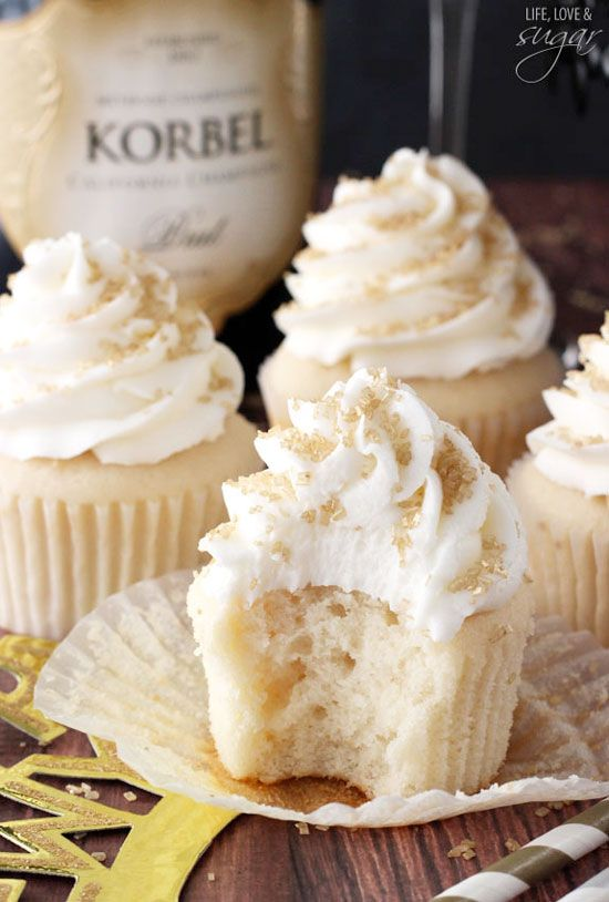 Champagne Cupcakes, buttercream, champagne, cupcake, dessert, food, recipe, baking