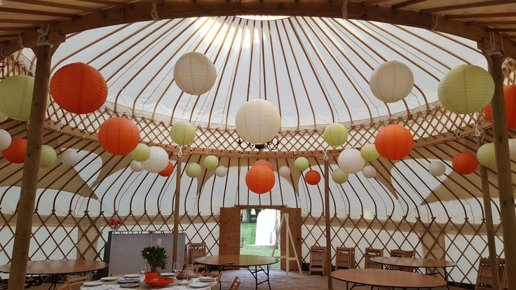 Loved the brief and so excited to work on our first Yurt and with the most amazing family @cheltenhamyurthire #lanternlove #hanginglanterns #yurt #weddinglighting #eventprofs