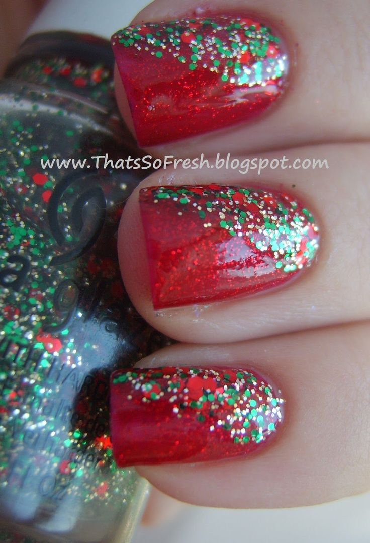1000+ Ideas About Christmas Nails On Pinterest