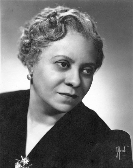 "Symphonic Composer Florence Price, 1930s. Considered to be the 1st recognized African American female symphonic composer. Price published two of her spiritual arrangements, ""I Am Bound for the Kingdom,"" and ""I'm Workin' on My Buildin',"" and dedicated them to the black contralto Marian Anderson, who performed them on a regular basis."