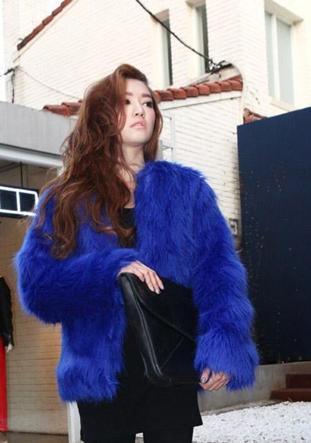 Luxus Pelz Mantel aus Fuchsfell (künstlich)