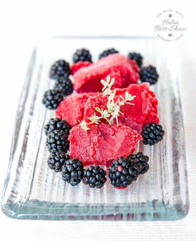 This easy blackberry sorbet with apple is gently flavoured with thyme and is…
