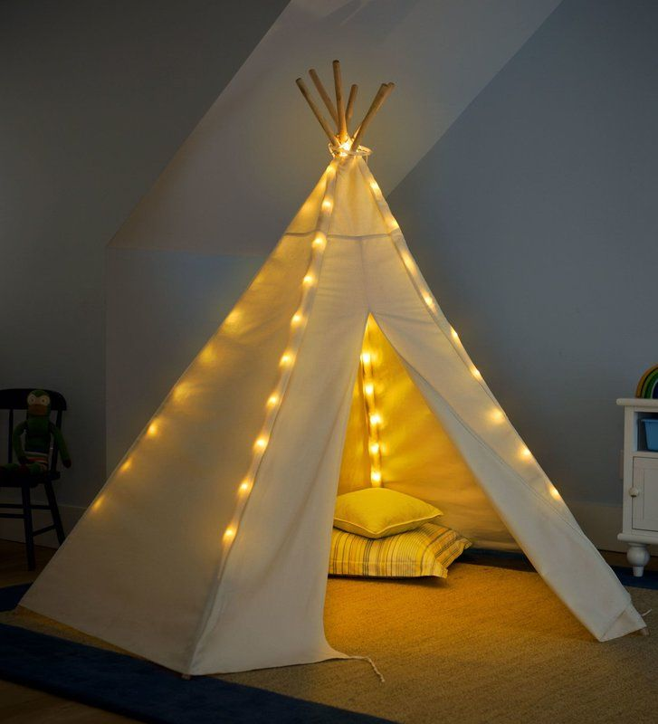7 Teepee Battery Operated Lights Special Play Tent Boys Things
