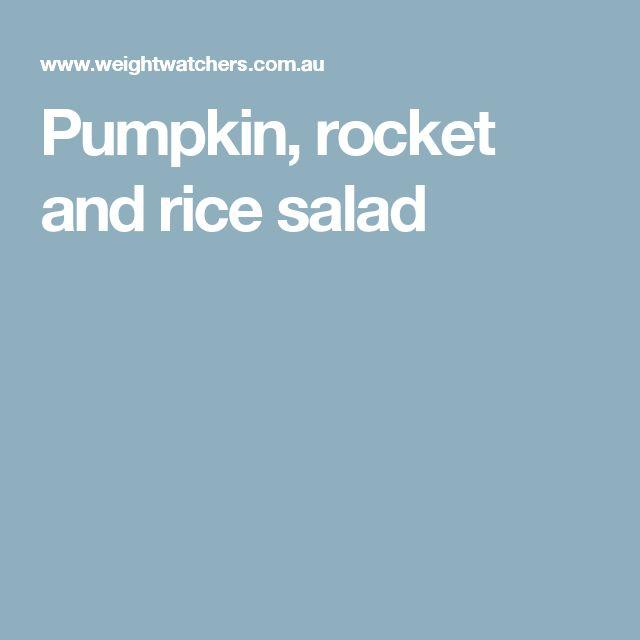 Pumpkin, rocket and rice salad