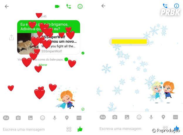 Facebook Messenger é atualizado com novos stickers e animações nas conversas
