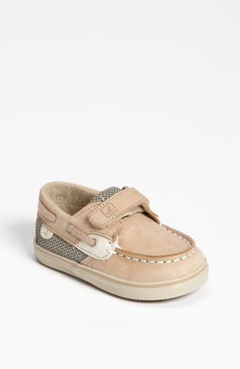I don't even care how ridiculous it is to put your baby in shoes, but I'm buying these. And no matter what gender this baby is, they're wearing 'em, so help me God.  So so so cute.    Sperry Top-Sider® 'Bluefish' Boat Shoe (Baby) available at #Nordstrom
