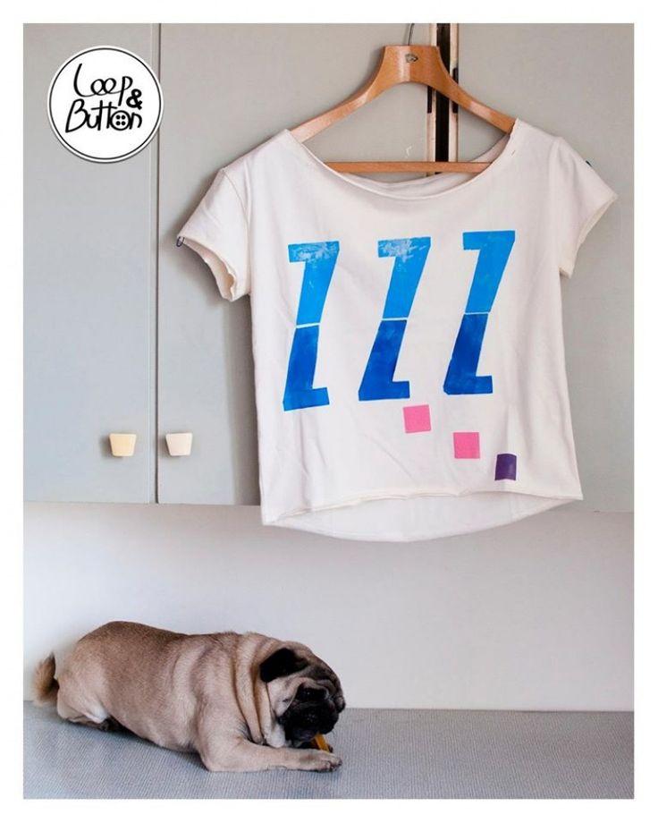 T-shirt - loop&button