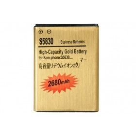 Batería Gold Extendida Samsung Galaxy Ace 2680mAh Made in Japan http://www.tucargadorsolar.com/Baterias-para-moviles/Bateria-Gold-2450mah-Samsung-Galaxy-Ace-S5830-S5660-S5670.html