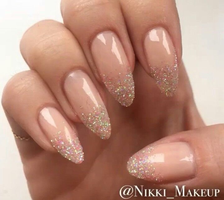 87 best Gold glitter nails images on Pinterest   Gel nails, Nail ...