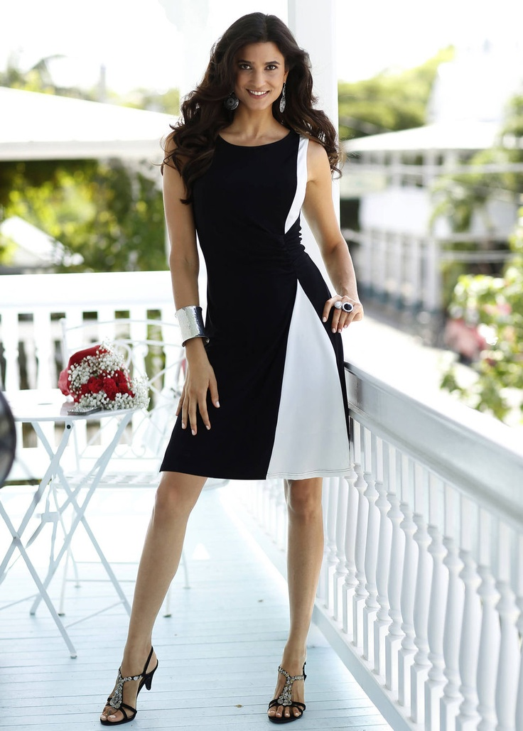 I love this elegant two-colored dress. Black & white is always so stylish