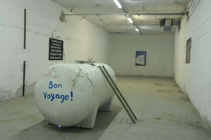 """bon voyage"", mixed media, 2008"
