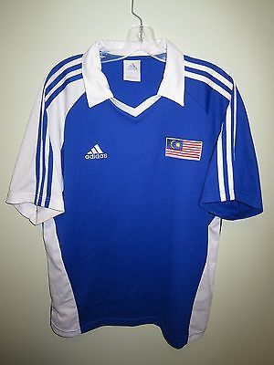 b59731bdef01 vintage MALAYSIA 2000s  Adidas blue away shirt football jersey trikot  maillot L (eBay Link)