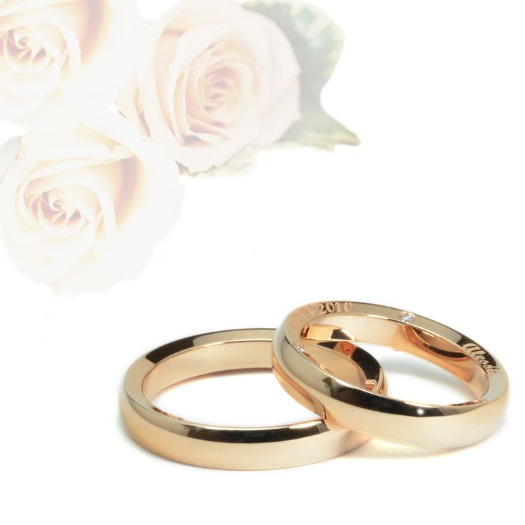 Fedi matrimoniali in oro rosa 18 kt #18ktgold #ororosa #orogiallo #orobianco #carinigioielli #gioielleria #gioielli #diamanti #handmade #etsyjewelry #whitegold #yellowgold #rosegold #sapphire #diamonds #naturaldiamonds #wedding #weddingbands