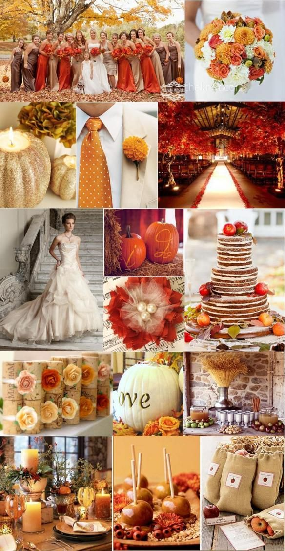 Fall Wedding Inspiration..mostly because of the caramel apples! haha