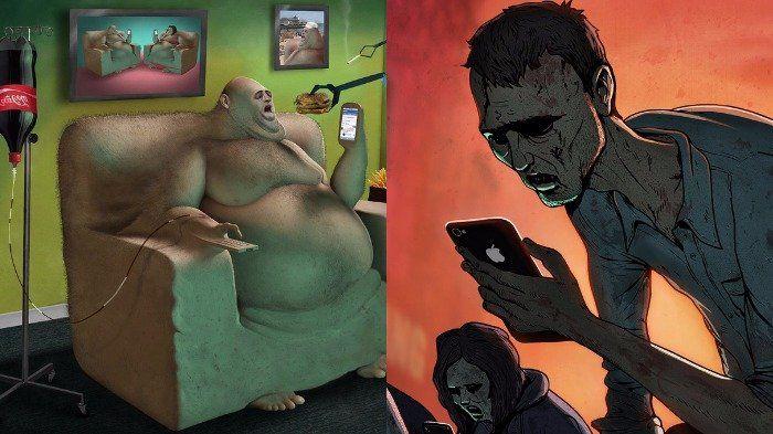Benarkah, Kehidupan Masyarakat Modern Kini Menyedihkan? Ilustrasi Ini Siap Sadarkan Kita
