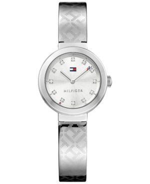 Tommy Hilfiger Women's Sophisticated Sport Stainless Steel Bangle Bracelet Watch 28mm 1781714 - Silver