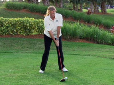 Holly Taylor, Head PGA Professional at the PGA Golf Club, offers a drill to help ensure that you'll generate the proper swing speed for optimal distance.