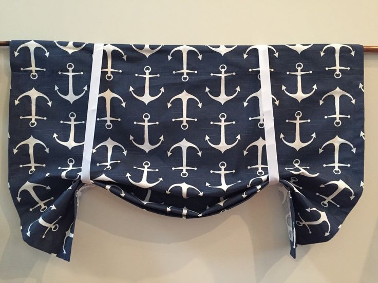 A personal favorite from my Etsy shop https://www.etsy.com/listing/233330426/nautical-curtain-nautical-valance-anchor
