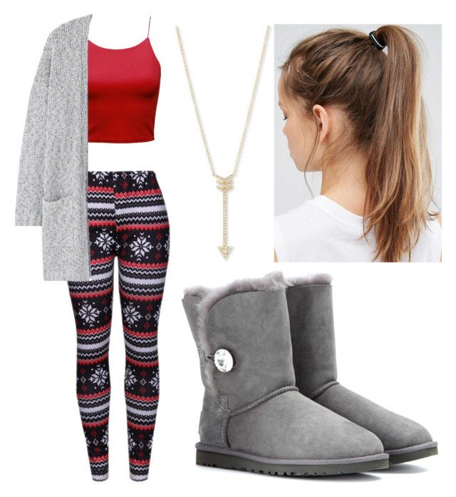"""""""Untitled #011"""" by liaperezmorales on Polyvore featuring WithChic, MANGO, UGG, NIKE and EF Collection"""