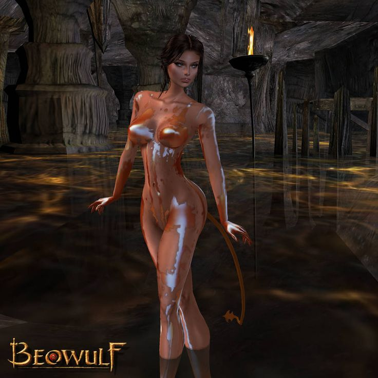 Angelina Jolie Posing Totally Nude In Beowulf