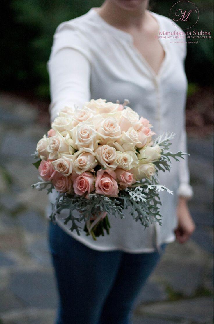 #bukiet #slubny #slubne #kwiaty #bouquet #elegant #wedding #flower #white #pink #rose  #manufakturaslubna #sluby