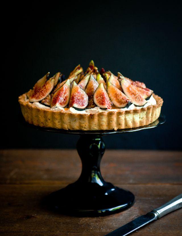Tarte aux figues, mascarpone et pistaches