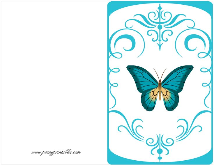 birthday quotes for butterfly card - Google Search Silhouette - free birthday card printable templates
