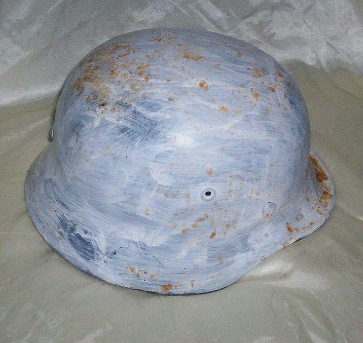 German WWII M1940 Snow Camouflaged Helmet, Rare