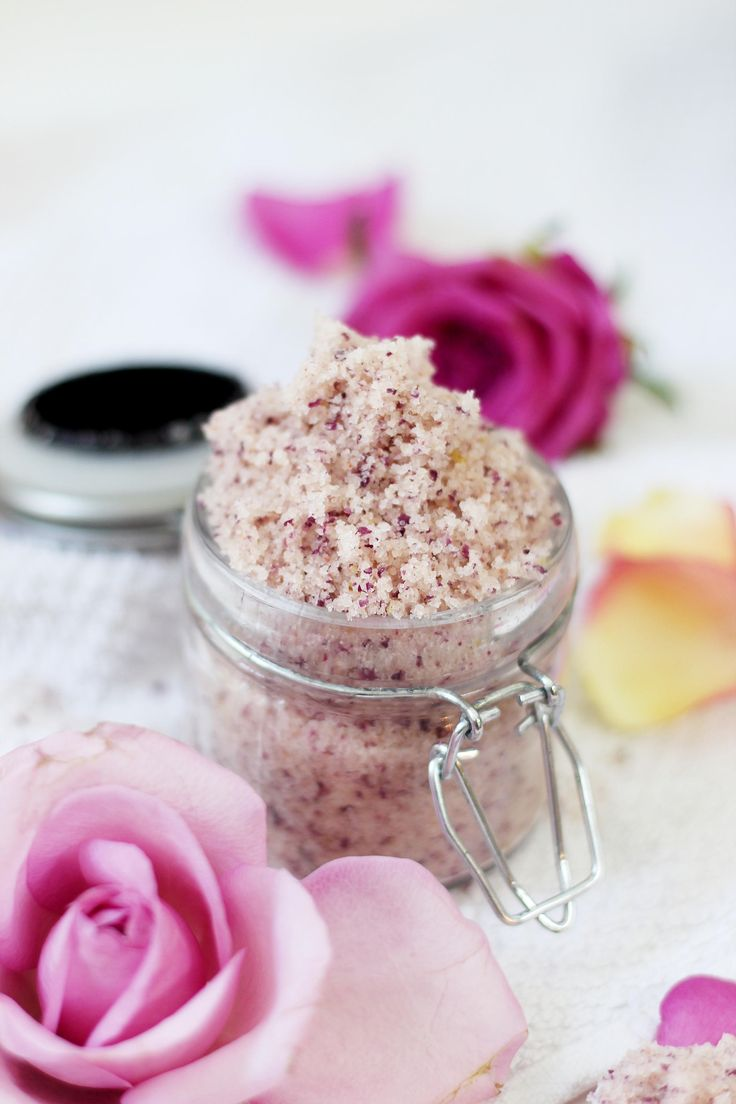 DIY Körperpeeling mit Rose-Mandel Duft Selbermachen