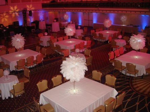 Wedding Centerpiece Rentals White Ostrich Feather