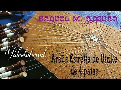 Araña Estrella de ULRIKE Encaje de Bolillos 4 patas (nivel avanzado) - YouTube