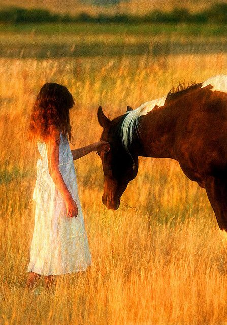 I need to take a picture like this of my daughter with a horse - she is obsessed with horses and this would make a great momento for her when she is grown up!