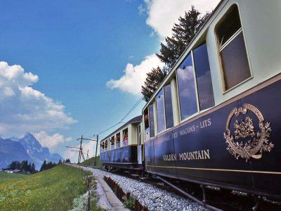 The Swiss Chocolate Train takes you through Montreux, Gruyeres, and Broc in a vintage Pullman train car.