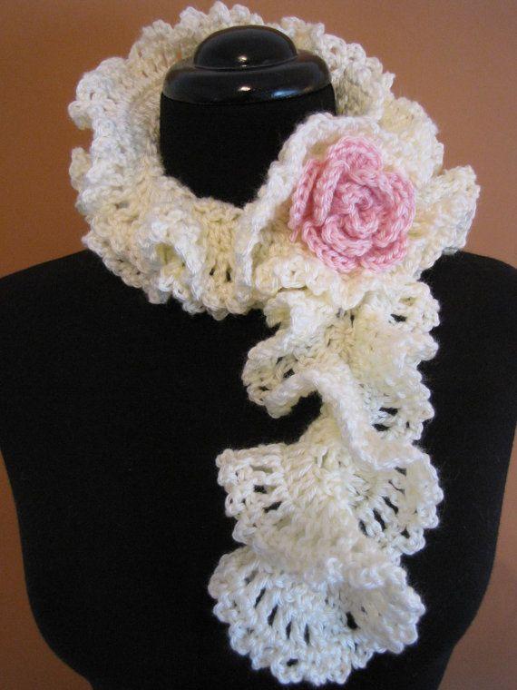 29 best Crocheted scarves images on Pinterest | Crochet granny ...