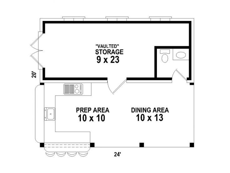 Pool House Plans Pool House Plan With Outdoor Kitchen 006p 0025 At Www Theprojectplanshop Com In 2020 Pool House Plans Outdoor Kitchen Plans Small Pool Houses