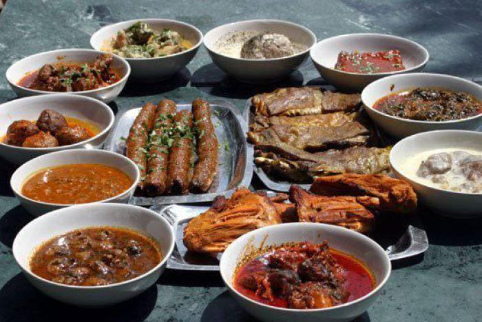 Kashmiri cuisine Wazwan is a 36 course weddings banquet