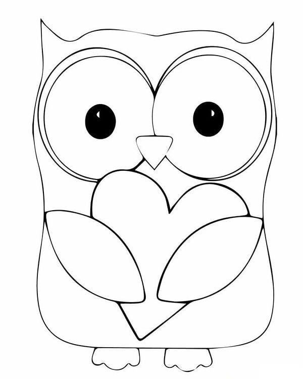 Bordados On Instagram Risco Para Bordar Coruja Quais Os Pontos Voce Usaria Comen Owl Coloring Pages Cute Coloring Pages Heart Coloring Pages