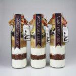 Backmischung im Glas oder Flasche für Schokokuchen mit Anleitung