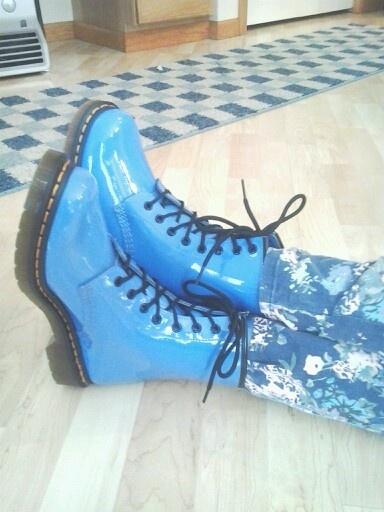 Dusty blue doc martens